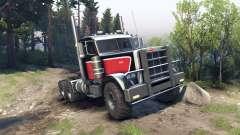 Peterbilt 379 red black para Spin Tires