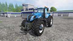 New Holland T8.320 600EVOX v1.11 blue para Farming Simulator 2015