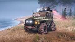UAZ-469 Turbo para Spin Tires