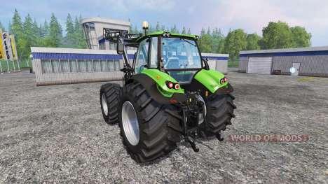 Deutz-Fahr Agrotron 7250 Forest King v2.0 green para Farming Simulator 2015