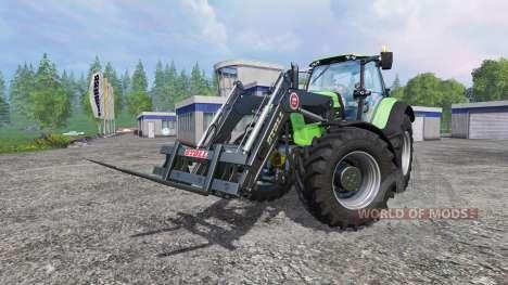 Deutz-Fahr Agrotron 7250 TTV v2.0 frontloader para Farming Simulator 2015