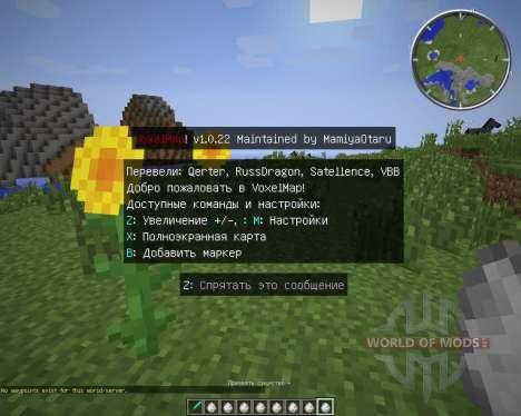 Zans Minimap [1.7.2] para Minecraft