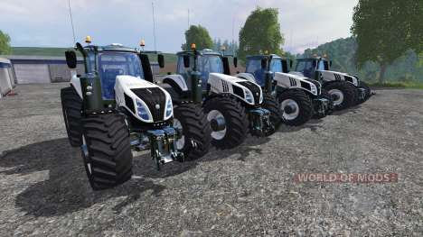 New Holland T8 [pack] v1.5 para Farming Simulator 2015
