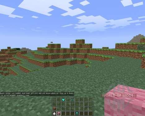 Quick Hotbar [1.6.4] para Minecraft