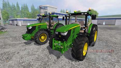 John Deere 6170R and 6210R v3.0 para Farming Simulator 2015