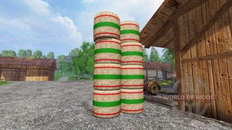 Nuevas texturas de pacas de paja para Farming Simulator 2015