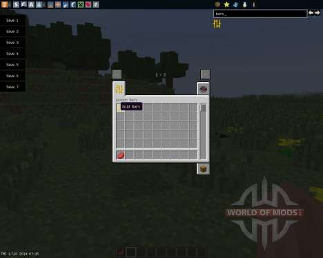 Golden Bars [1.7.10] para Minecraft