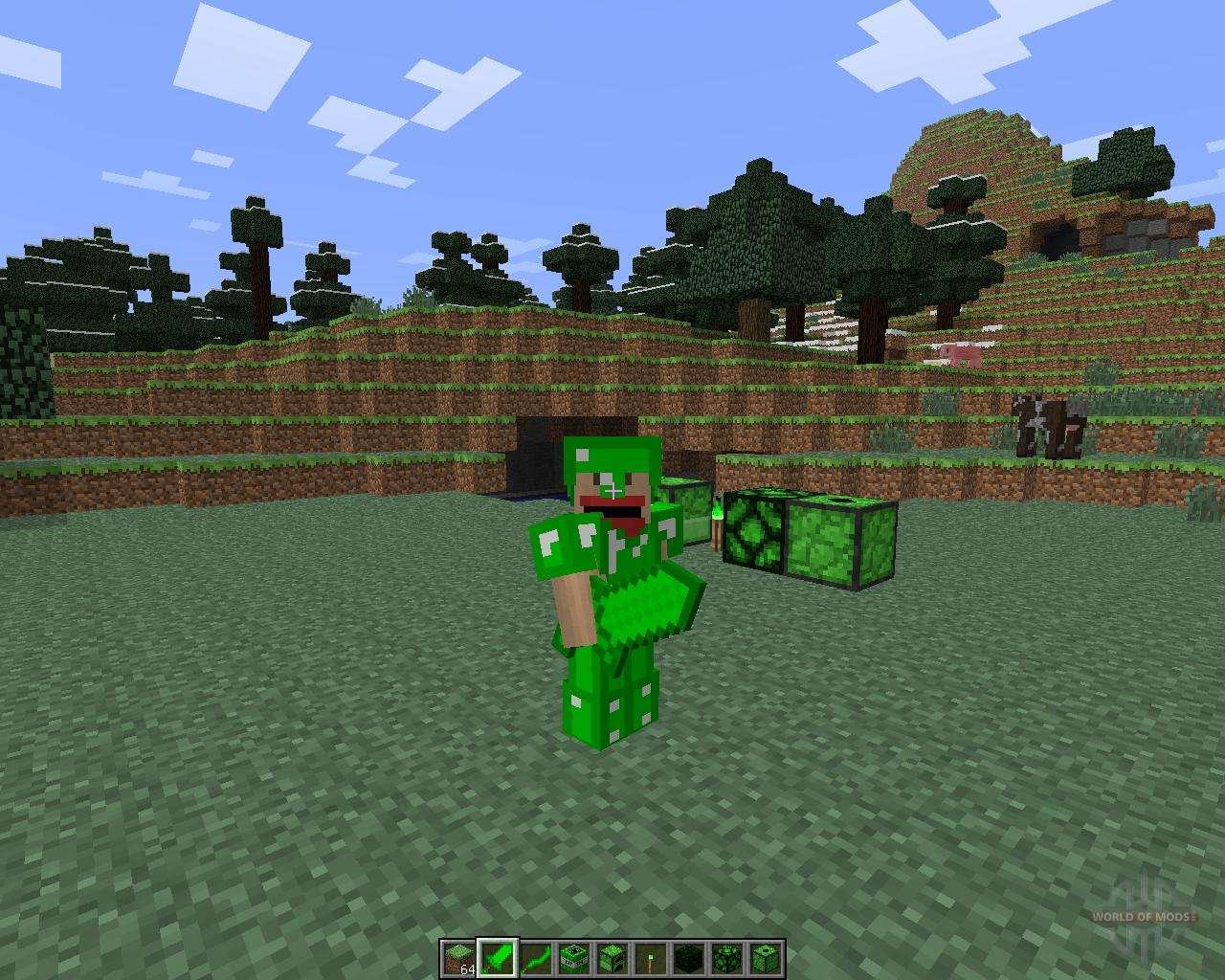Майнкрафт 1 6 4 мод emerald armor