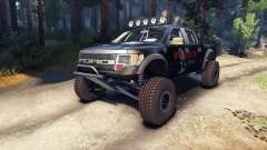 Ford Raptor Pre-Runner blackwater para Spin Tires