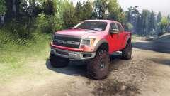 Ford Raptor SVT v1.2 factory sunset red para Spin Tires