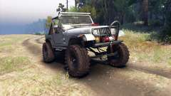 Jeep YJ 1987 Open Top silver para Spin Tires