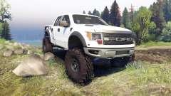 Ford Raptor SVT v1.2 factory white para Spin Tires