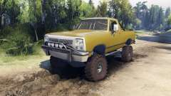 Dodge Ramcharger 1991 Open Top v1.1 olive green para Spin Tires
