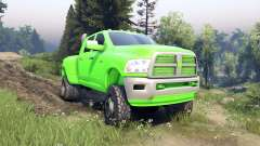 Dodge Ram 3500 dually v1.1 green para Spin Tires