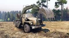 Ural-4320 con los nuevos cargadores para Spin Tires