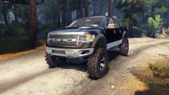 Ford Raptor SVT v1.2 black-gray para Spin Tires