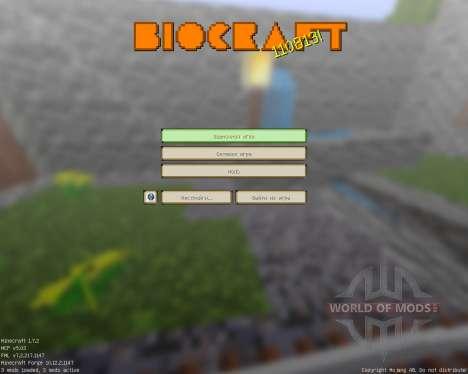 Biocraft [16x][1.7.2] para Minecraft