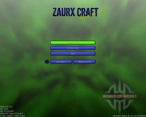 Zaurx Craft [32x][1.7.2] para Minecraft