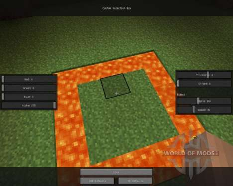 Custom Selection Box [1.6.2] para Minecraft