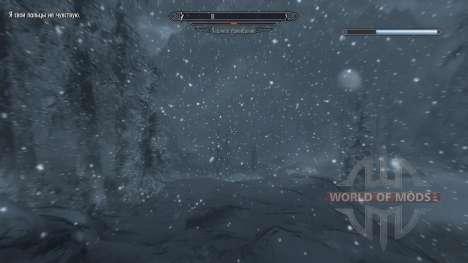 Freeze - la salvación en el campo [2.6] para Skyrim sexta pantalla