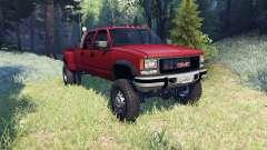 GMC Suburban 1995 Crew Cab Dually red para Spin Tires