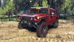 Hummer H1 fire house red para Spin Tires