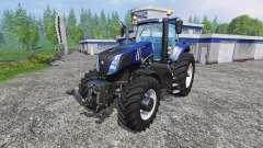 New Holland T8.320 blue black wavy v2.0 para Farming Simulator 2015