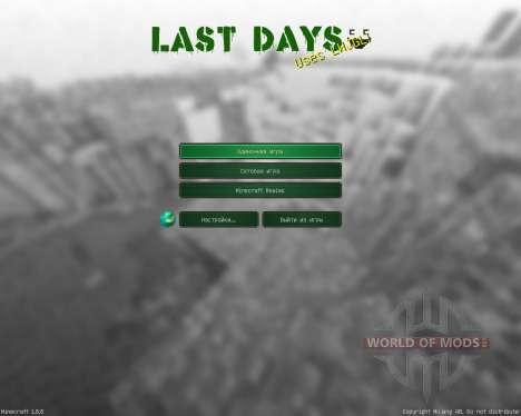 Last Days Resource Pack [32x][1.8.8] para Minecraft