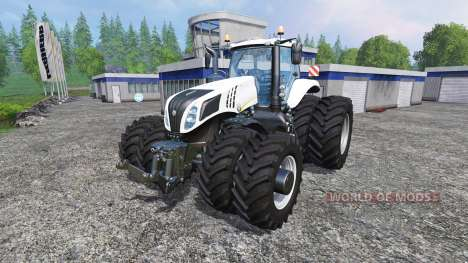 New Holland T8.320 White Dualls para Farming Simulator 2015