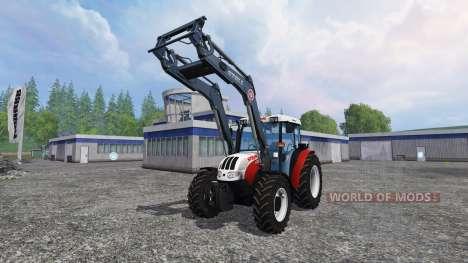 Steyr Kompakt 4095 front loader para Farming Simulator 2015