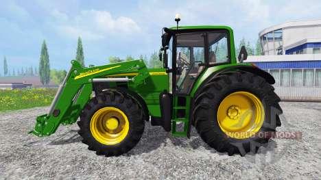 John Deere 6630 Premium front loader para Farming Simulator 2015