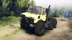 Mercedes-Benz Unimog U1500L 6х6 amarillo para Spin Tires