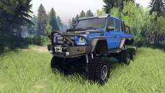 Mercedes-Benz G65 AMG 6x6 Final blue pearl para Spin Tires