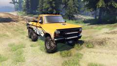 Ford F-100 6x6 custom para Spin Tires
