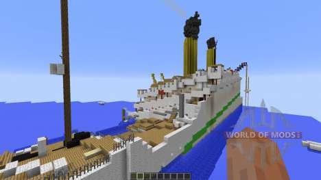 H.M.H.S.Britannic sinking para Minecraft