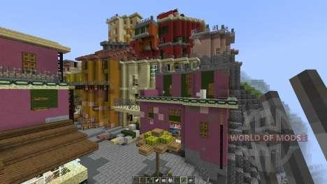 A cinque terre Manarola in Italy [1.8][1.8.8] para Minecraft