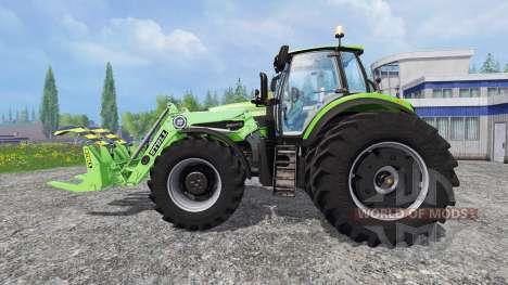 Deutz-Fahr Agrotron 7250 TTV front loader para Farming Simulator 2015