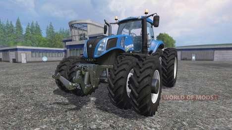 New Holland T8.320 row crop duals para Farming Simulator 2015