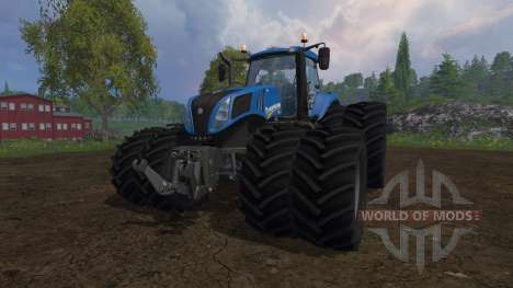 New Holland T8.320 dual wheels para Farming Simulator 2015