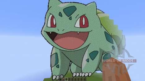Giant Bulbasaur pixelart para Minecraft