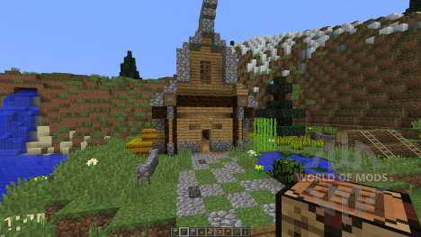 Medieval House on a little Island para Minecraft