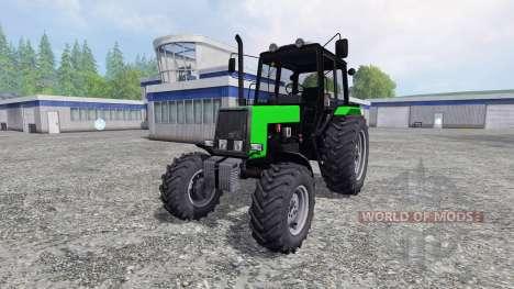 MTZ-Belarús 1025 amarillo y verde para Farming Simulator 2015