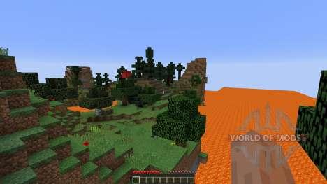 lava lake survival para Minecraft