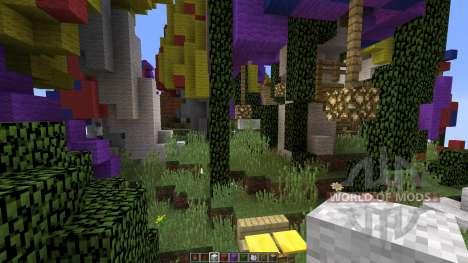 Mushroom sky island para Minecraft