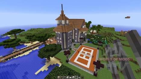 Contemporary colonial mansion para Minecraft