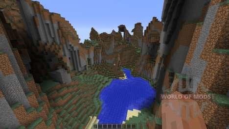 Mountain map para Minecraft