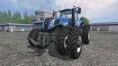 New Holland T8.320 row crop duals