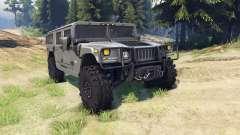 Hummer H1 army grey para Spin Tires