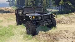 Hummer H1 black para Spin Tires
