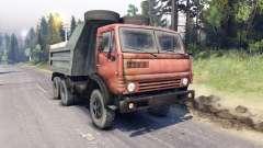 KamAZ-5511 rojo de la parrilla para Spin Tires